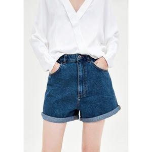 ZARA Mom Fit Bermuda High Rise Shorts Size 00